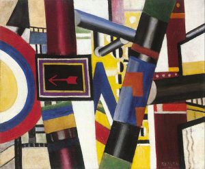 Railway Crossing - Oil Painting Reproduction On Canvas