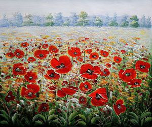 Poppies in the Wild - Oil Painting Reproduction On Canvas