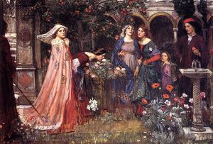 The Enchanted Garden - John William Waterhouse Oil Painting