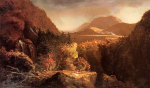 Landscape with Figures: A Scene from 'The Last of the Mohicans' - Thomas Cole Oil Painting