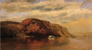 On the Hudson - John George Brown Oil Painting