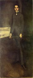 Portrait of George W. Vanderbilt - James Abbott McNeill Whistler Oil Painting