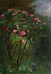 Rose Bush in Flower - Gustave Caillebotte Oil Painting