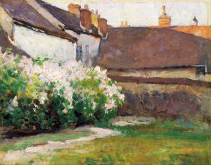 Afternoon Shadows, Grez, France - Robert Vonnoh Oil Painting