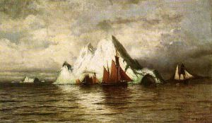 Fishing Boats and Icebergs - William Bradford Oil Painting