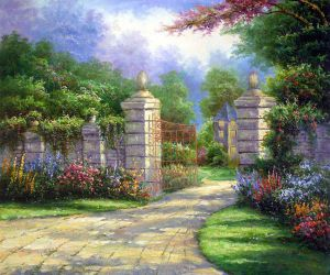 Summer Gate II - Oil Painting Reproduction On Canvas