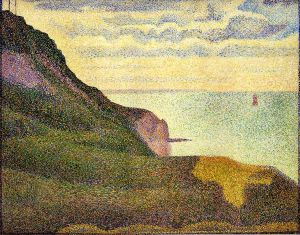 Port-en-Bessin, the Semaphore and Cliffs -  Georges Seurat Oil Painting