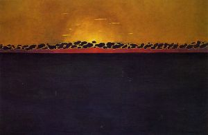 Sunset, Gray-Blue High Tide - Felix Vallotton Oil Painting