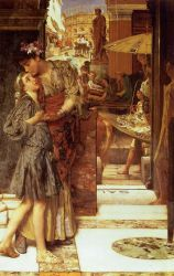 The Parting Kiss - Sir Lawrence Alma-Tadema Oil Painting