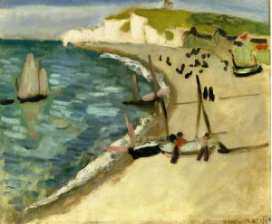 Aht Amont Cliffs at Etretat - Oil Painting Reproduction On Canvas