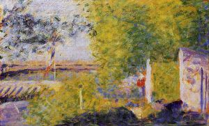 The Bineau Bridge - Georges Seurat Oil Painting