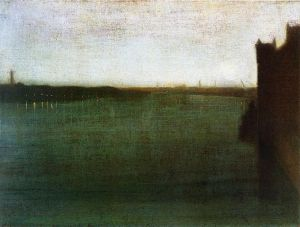 Nocturne: Grey and Gold-Westminster Bridge - James Abbott McNeill Whistler Oil Painting