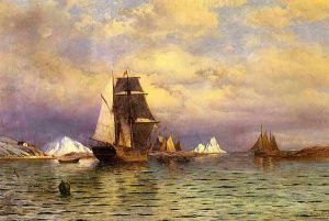 Looking out of Battle Harbor - William Bradford Oil Painting