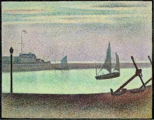 The Channel at Gravelines, Evening - Georges Seurat Oil Painting