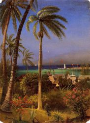 Bahamian View - Albert Bierstadt Oil Painting