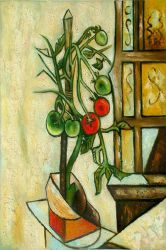 Tomato Plant - Pablo Picasso Oil Painting