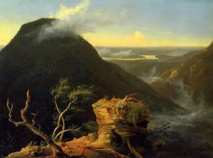 Sunny Morning on the Hudson River - Thomas Cole Oil Painting
