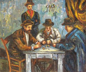 The Card Players II Vincent Van Gogh Oil Painting Oil Paintings - Who painted the card players