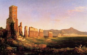 Aqueduct near Rome - Thomas Cole Oil Painting