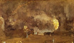 The Fire Wheel - James Abbott McNeill Whistler Oil Painting