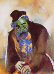 The old Jew - Marc Chagall Oil Painting