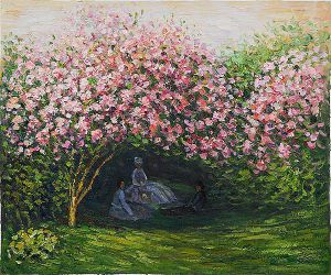 Resting Under the Lilacs II - Claude Monet Oil Painting