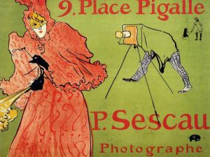The Photagrapher Sescau - Henri De Toulouse-Lautrec Oil Painting