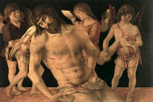 Dead Christ Supported by Angels (Pietà) - Giovanni Bellini Oil Painting