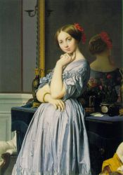 Louise de Broglie, Countess d'Haussonville, 1845 - Oil Painting Reproduction On Canvas