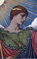Head of Minerva - Elihu Vedder Oil Painting