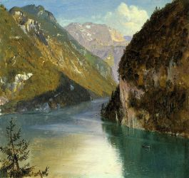 Konigsee, Bavaria - Frederic Edwin Church Oil Painting