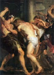 Flagellation of Christ - Peter Paul Rubens Oil Painting