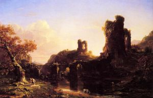 An Italian Autumn - Thomas Cole Oil Painting