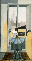 Still LIfe in front of a Window overlooking the Eglise St. Augustin - Pablo Picasso Oil Painting