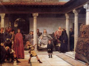 The Education of the Children of Clovis II - Sir Lawrence Alma-Tadema Oil Painting
