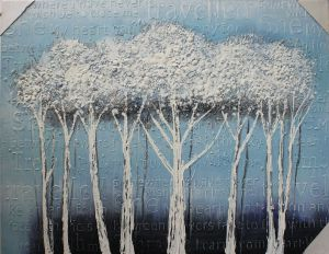 Decorative painting of trees