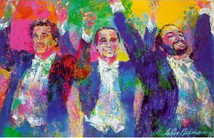 THE THREE TENORS - Leroy Nieman Oil Painting