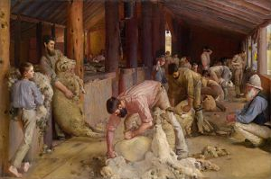the Shearing of the Rams by Tom Roberts