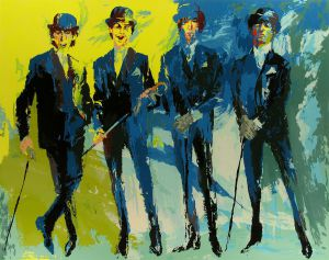 THE BEATLES - Leroy Nieman Oil Painting