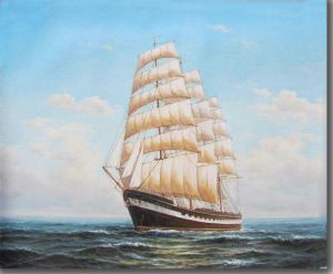 Classical sailing ship
