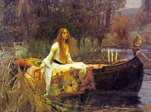 The Lady of Shalott - Oil Painting Reproduction On Canvas